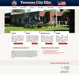 Traverse City, Michgian Web Design - Traverse City Elks' Lodge