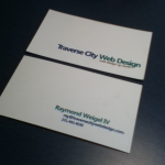 Travese City Web Design Business Cards