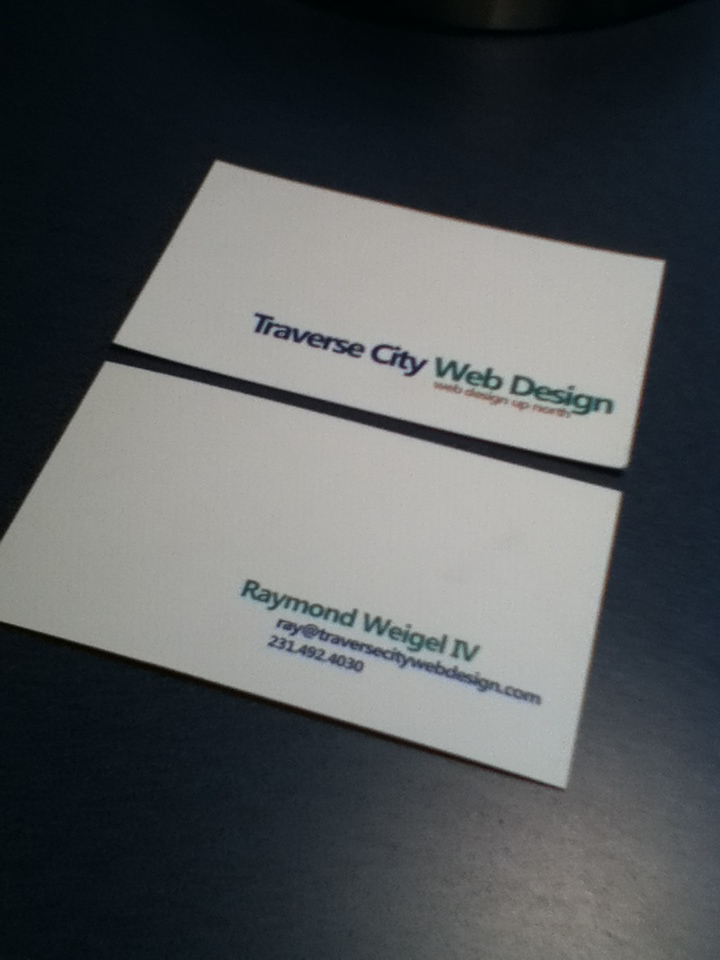 New Travese City Web Design Business Cards