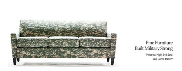 Military Camo Furniture New Website, Brand and Logo Design