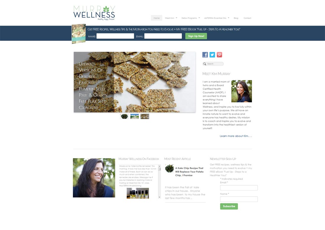 New Website: Kim Murray, Wellness Consulting in Traverse City, Michigan