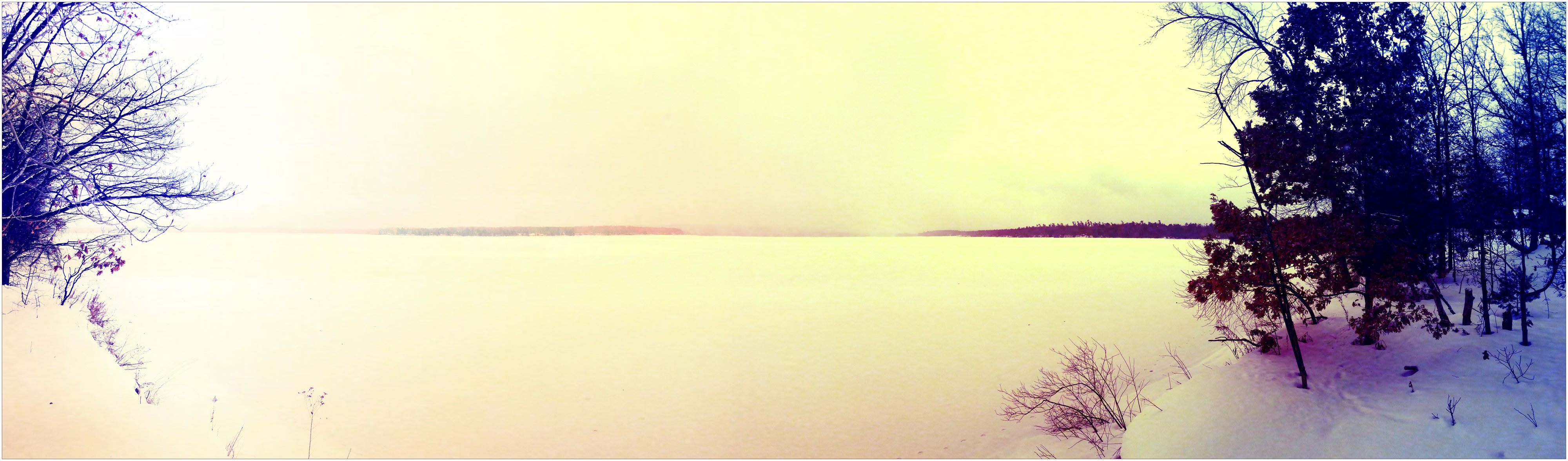 Snow Panorama Photo from Interlochen, Michigan