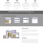 Software Company Web Design - Front Page - Desktop View