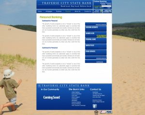 Traverse City State Bank Web Design