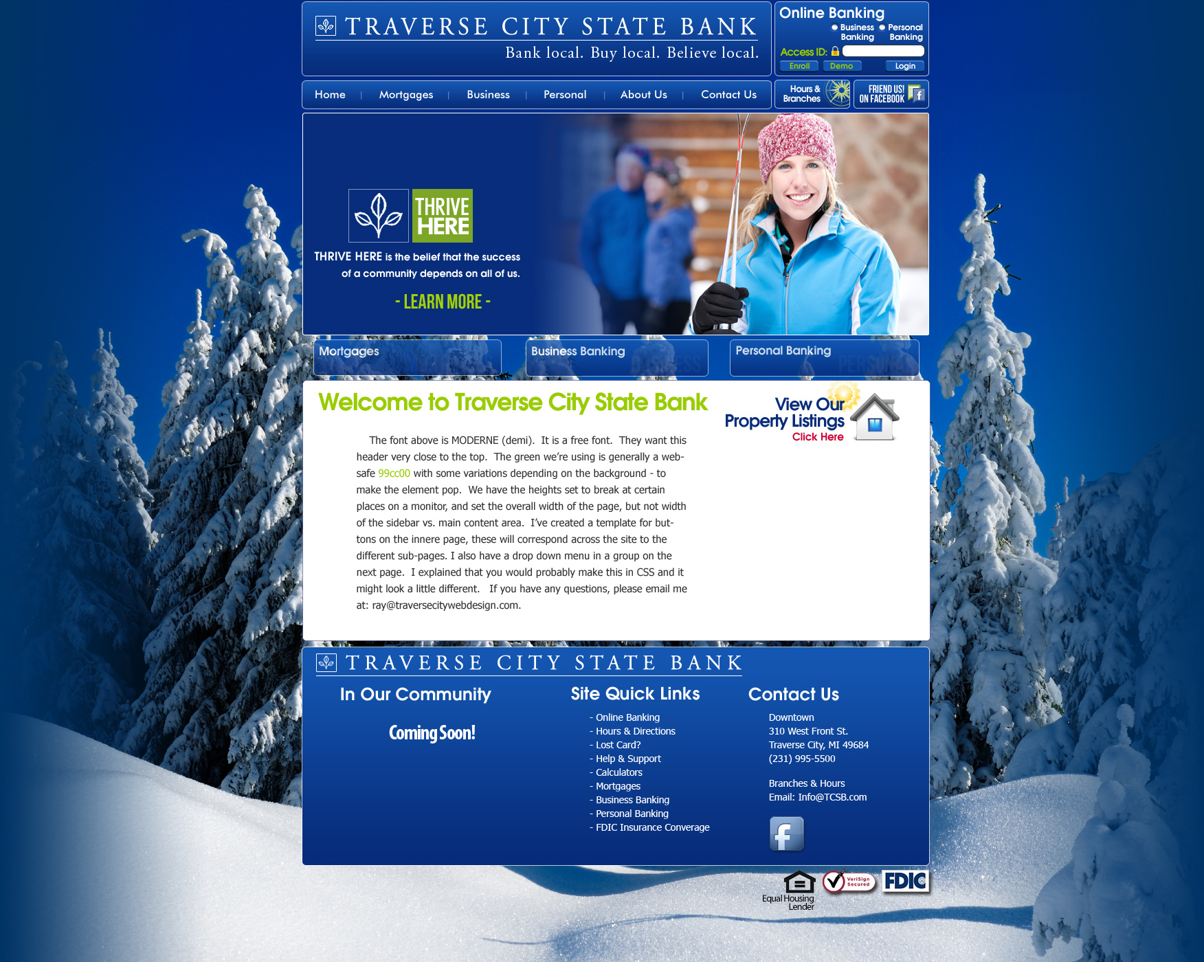 New Website: Traverse City State Bank