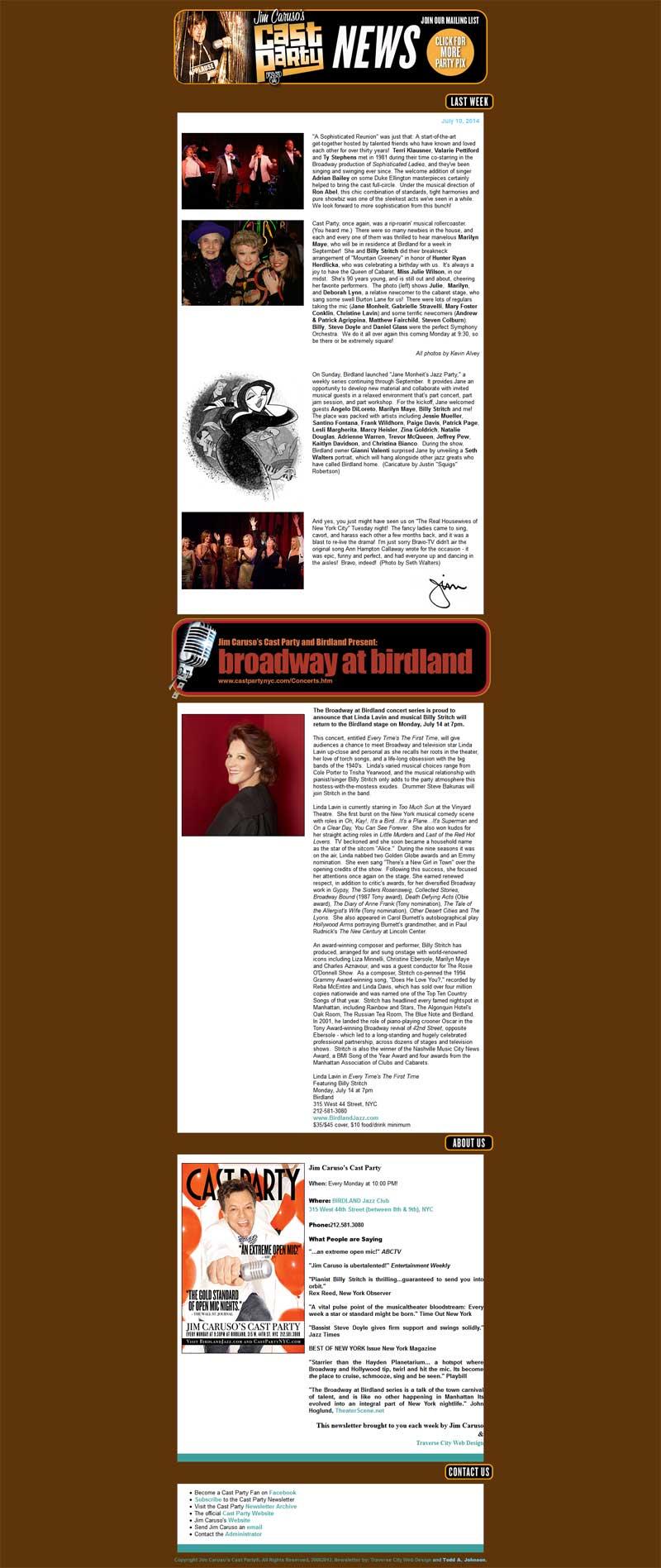 Michigan Email Marketing for Birdland Jazz Club in New York City