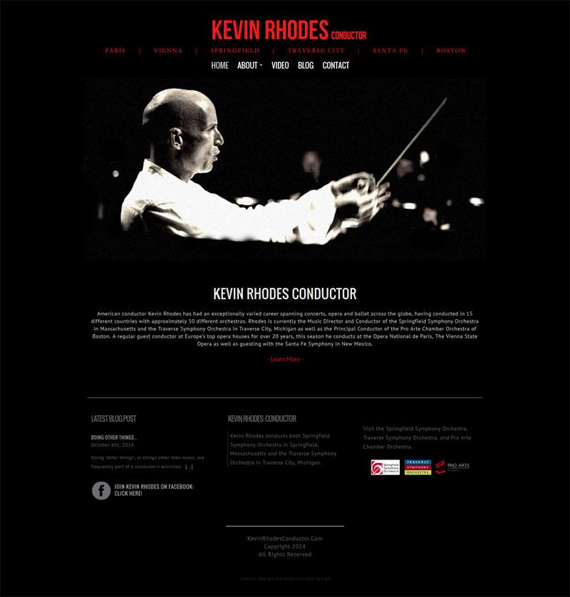 Web Design Portfolio | Kevin Rhodes Conductor