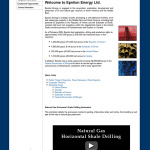 Oil and Gas Company Web Design: Epsilon Energy