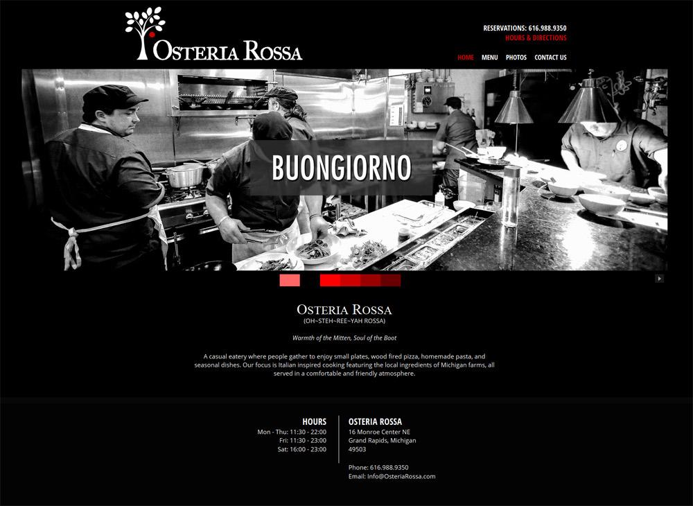 Web Design Portfolio | Osteria Rossa