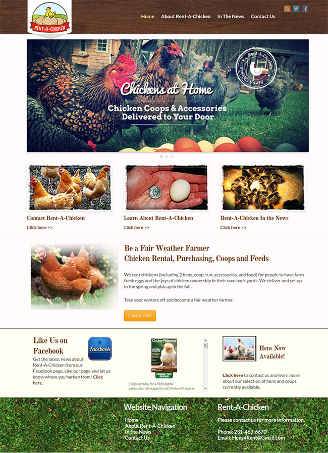 Web Design Portfolio | Rent a Chicken