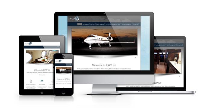 Web Design Portofolio | RSVP Jet - Traverse City Web Design