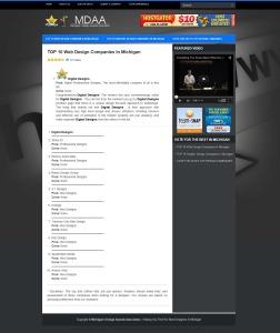 Traverse City Web Design Named at Top Ten Michigan Website Design Company
