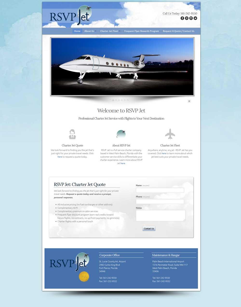 Web Design Portofolio | RSVP Jet