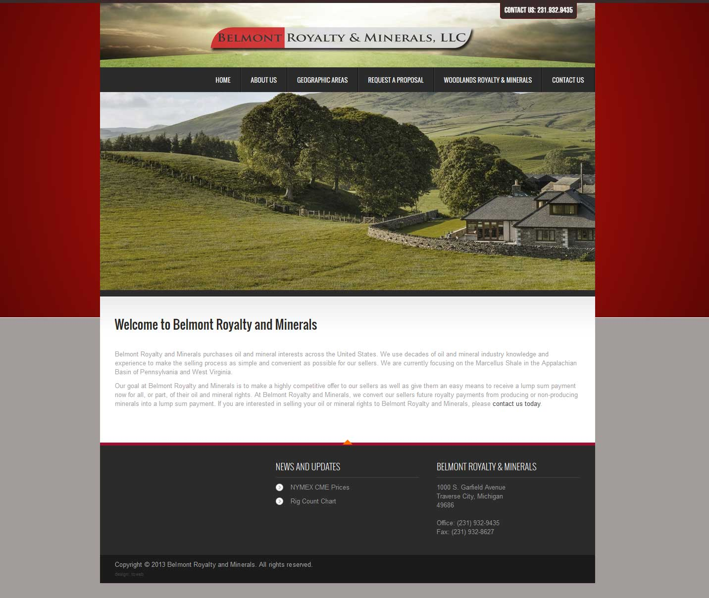 Web Design Portfolio | Belmont Royalty and Minerals, LLC