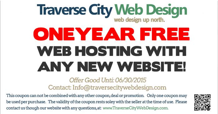 traverse city web design coupon one year free web hosting traverse