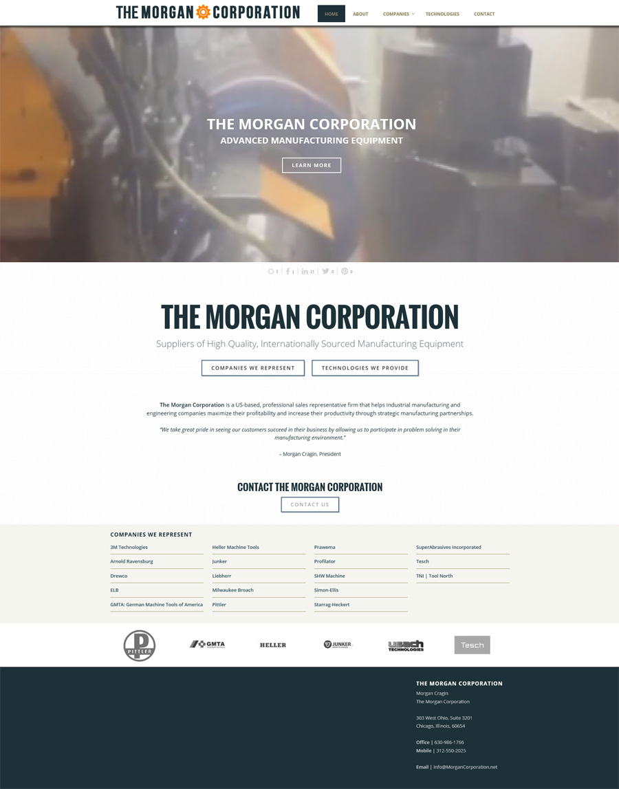 New Website & Logo Design: The Morgan Corporation