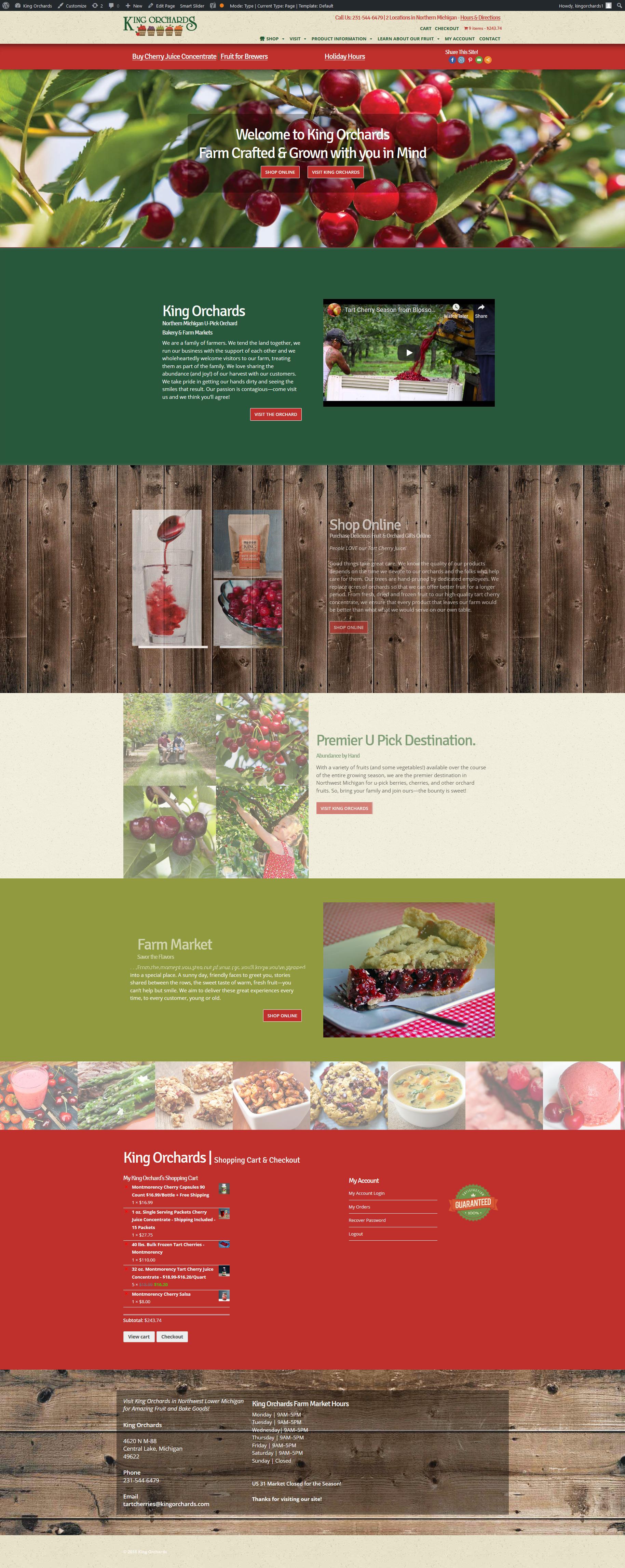 Web Design Portfolio | King Orchards
