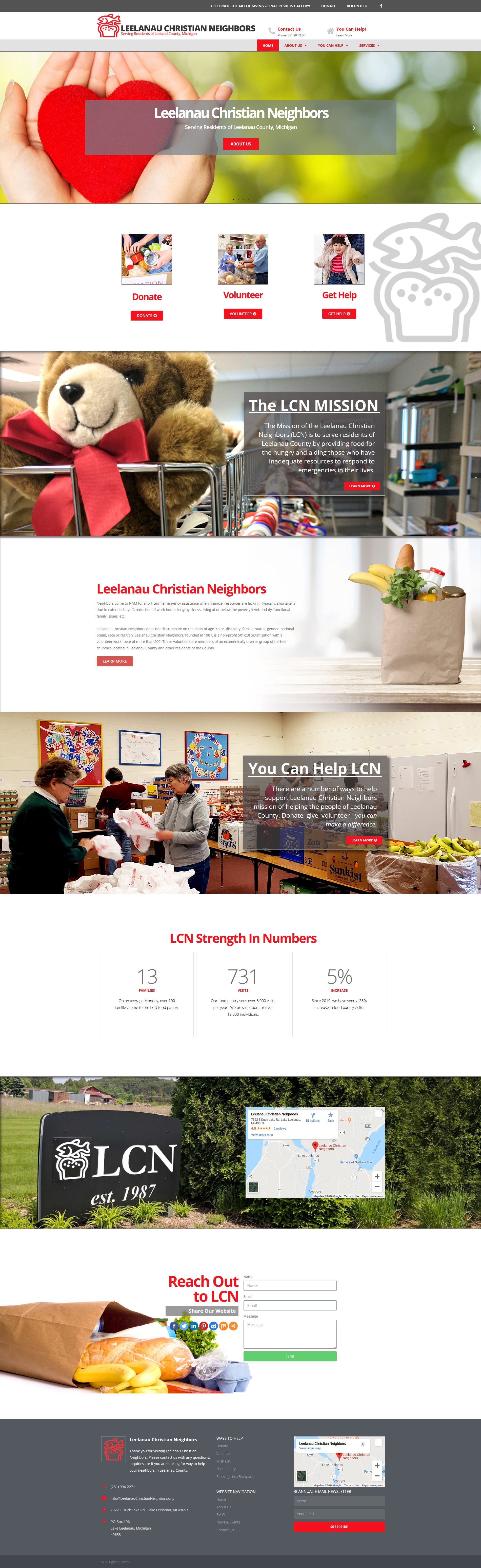 New Website for Leelanau Christian Neighbors