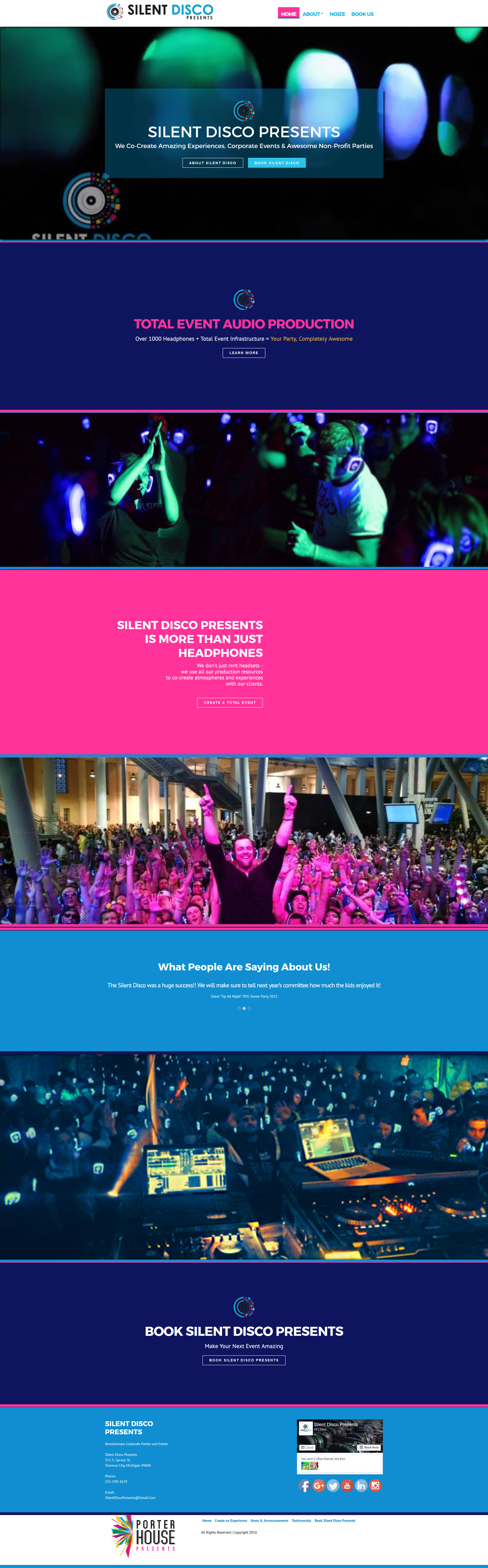Web Design Portfolio | Silent Disco Presents