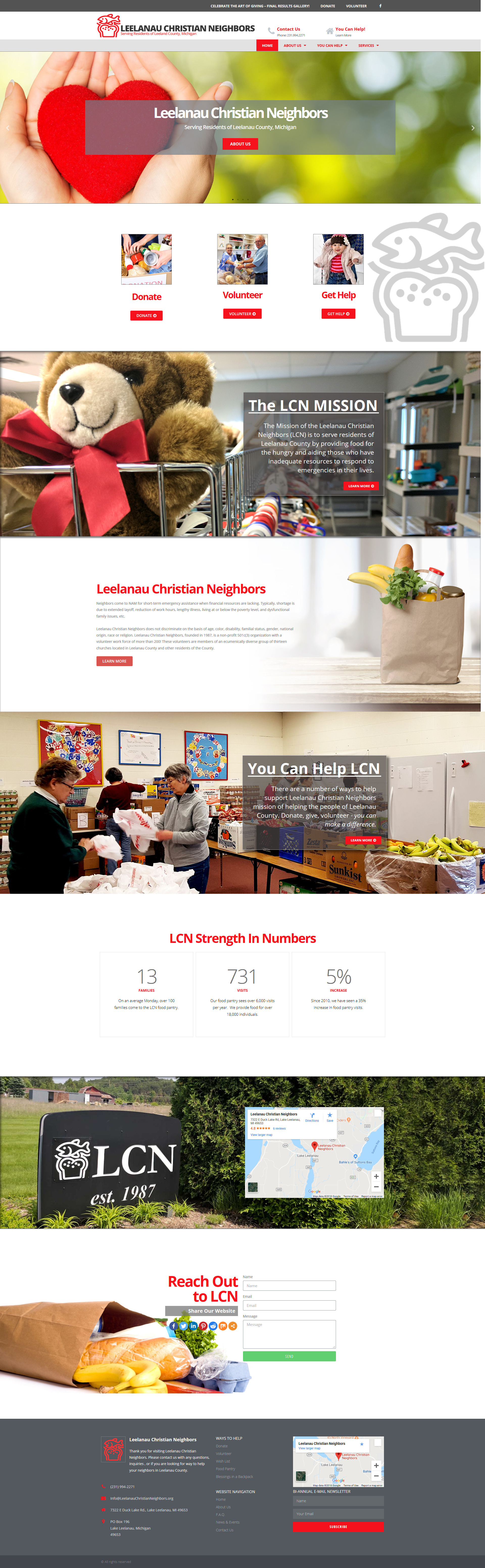 Read more about the article New Website for Leelanau Christian Neighbors