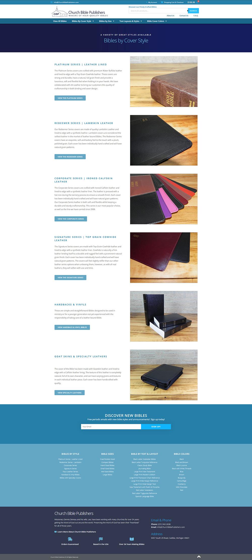 Full eCommerce Website – ChurchBiblePublishers.com